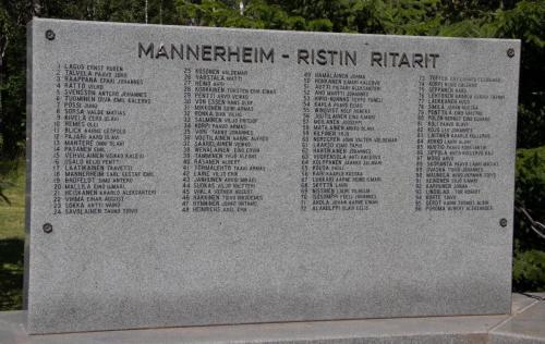 Mannerheimristin-Ritareita.