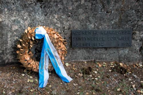Muistomerkki Hämeenkoskella.