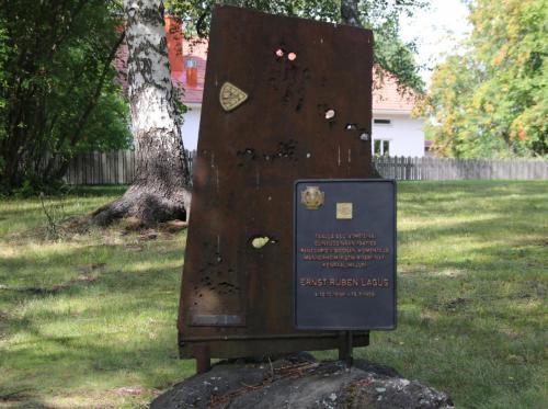 Muistomerkki Haikarissa Lohjalla.